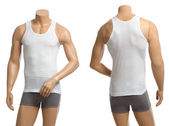 Mannequin with brief and vest — Stock Photo