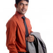 Indian young business man portrait - Stock Photo