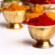 Royalty-Free Stock Photo: Turmeric and kumkum powder with Ornaments