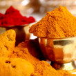 Stock Photo: Turmeric and kumkum powder