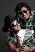 Two Indian young man wearing glasses — Stock Photo