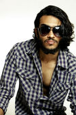 Indian young male model wearing glasses — Stock Photo