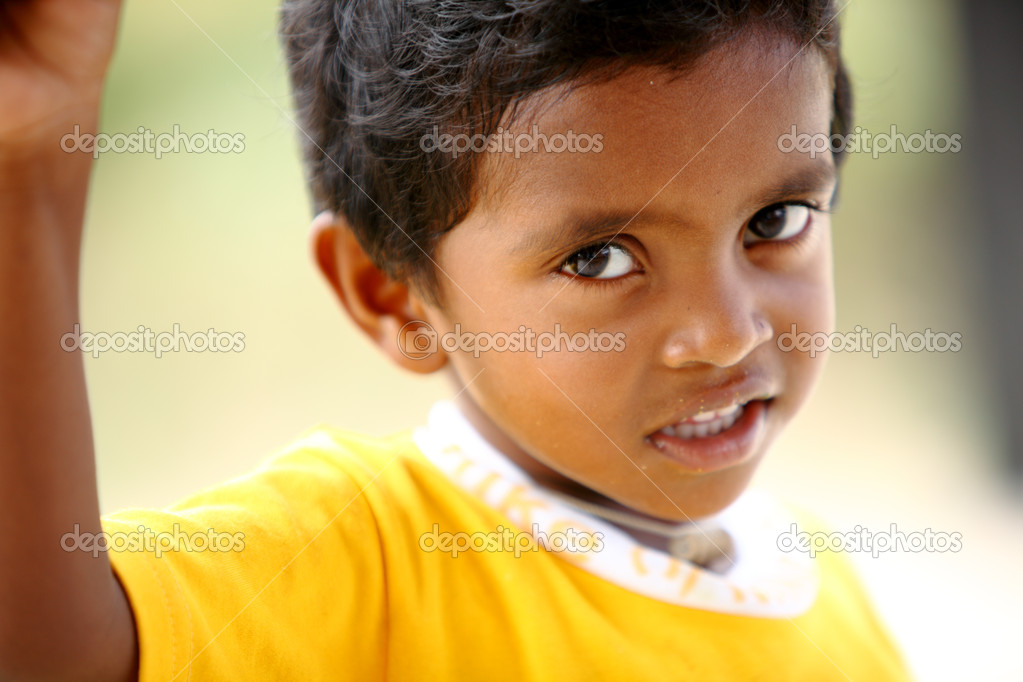 Cute Indian little boy looking at the camera — Stock Photo #12072263