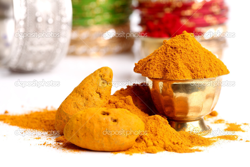 Turmeric powder Indian spice. — Stock Photo #12076948