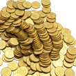 Many gold coins — Stock Photo #11555358