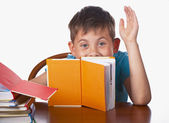 Boy books — Stock Photo