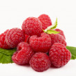 Raspberries; Objects on white background — Stock Photo