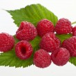 Macro shot of appetizing raspberries — Stock Photo