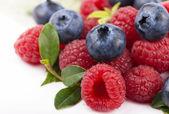 Blueberries & raspberries — Stock Photo