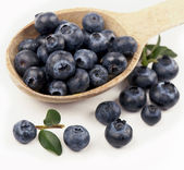 Spoon with blueberries — Stock Photo
