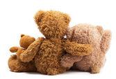 Três ursos de pelúcia — Foto Stock