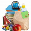Foto de Stock  : Back to school supplies. Isolated