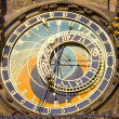 Astronomical clock in Prague (Czech republic) in the Old Town Square. — Stock Photo