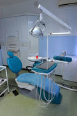 Modern Dentist's chair in a medical room — Stock Photo