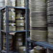 Royalty-Free Stock Photo: Films were stored in the archive