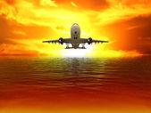 The plane — Stock Photo
