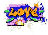 Love graffiti — Stock Vector