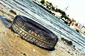 Old tyre cover — Stock Photo