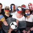 Stock Photo: Football soccer fans friends