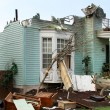 Stock Photo: House damaged by disaster