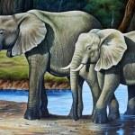 Elephant family — Stock Photo #12416636