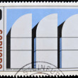 Stock Photo: GERMANY - CIRC1970: stamp printed in Germany shows walter gropius bauhaus archiv museum berlin, circ1970