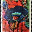 GERMANY- CIRCA 1974: stamp printed in Germany, shows Pechstein Asleep by Erich Heckel, circa 1974. — Stock Photo