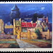 图库照片: GERMANY - CIRC1994: stamp printed in Germany shows Water Tower in Bremen, Painting by Franz Radziwill, circ1994
