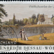 GERMANY - CIRCA 2002: A stamp printed in Germany shows Garden Kingdom of Dessau-Wörlitz , Dessau Anhalt Art Gallery, Prints and Drawings, circa 2002 — Stock Photo