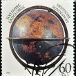 GERMANY - CIRCA 1992: A stamp printed in Germany dedicated to 500 years of terraqueous globe, circa 1992 — Stock Photo