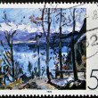 Постер, плакат: GERMANY CIRCA 1978: A stamp printed in Germany shows a picture of the Easter at Walchensee by Lovis Corinth circa 1978