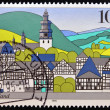 GERMANY- CIRCA 1995: A stamp printed in Germany shows Sauerland, circa 1995. — Stock Photo