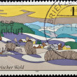 图库照片: GERMANY - CIRC1997: stamp printed in Germany shows BavariForest, circ1997.