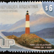 ARGENTINA - CIRCA 2000: A stamp printed in Argentina shows Les Eclaireurs lighthouse, Tierra del Fuego, circa 2000 — Stock Photo