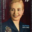 ARGENTINA - CIRCA 2002: a stamps printed in Argentina shows Evita Peron, circa 2002 — Stock Photo