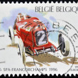BELGIUM - CIRCA 1996: A stamp printed in Belgium shows Alfa Romeo R2 (1925), circa 1996 - Stock Photo