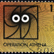 Stock Photo: BELGIUM - CIRC1988: stamp printed in Belgium dedicated to operation Athena, circ1988