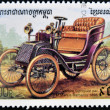 CAMBODIA - CIRCA 1999: stamp printed in Cambodia, shows retro car, circa 1999. — Stock Photo