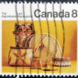 CANADA - CIRCA 1973: stamp printed in Canada dedicated to the Algonkians, circa 1973 - Stock Photo