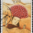 CZECHOSLOVAKIA - CIRCA 1968: A stamp printed in Czechoslovakia showing shows image of Chinese girl, circa 1968 — Stock Photo