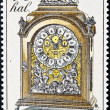 CZECHOSLOVAKIA - CIRCA 1979: A Stamp printed in Czechoslovakia shows mantel clock, circa 1979 — Stock Photo
