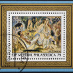 ������, ������: CUBA CIRCA 1979: A stamp printed in Cuba shows paint by Jules Pascin circa 1979