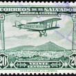 EL SALVADOR - CIRCA 1940: A stamp printed in el Salvador shows plane flying over El Salvador, circa 1940 — Stock Photo