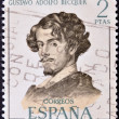 SPAIN - CIRCA 1970: A stamp printed in Spain shows Gustavo Adolfo Becquer, circa 1970 - Stockfoto