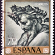 "SPAIN - CIRC1963: stamp printed in Spain shows ""Triumph of Bacchus"" by Jose de Ribera, circ1963 — Stock Photo #10893737"