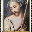 SPAIN - CIRCA 1970: A stamp printed in the Spain shows Ecce Homo, painting by Luis de Morales, circa 1970 - Stockfoto