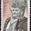 SPAIN - CIRCA 1972: A stamp printed in Spain shows Emilia Pardo Bazan, circa 1972 — 图库照片