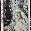 Stock Photo: SPAIN - CIRC1964: stamp printed in Spain shows Coronation of Virgin Macarena, Seville, circ1964