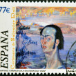 SPAIN - CIRCA 2004: A stamp printed in Spain shows self-portrait by Salvador Dali, circa 2004 — Stock Photo #10894062