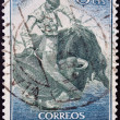 Royalty-Free Stock Photo: SPAIN - CIRCA 1964: A stamp printed in Spain shows bullfight, circa 1964